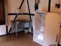 Kühlschrank und Spüle